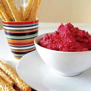 Roasted Beet Hummus - with added seaweed nutrition benefits