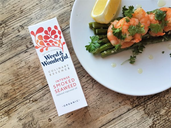 Weed & Wonderful intense smoked seaweed culinary essence with prawns