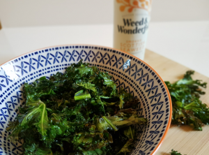 Smokey kale crisps, seaweed recipes, healthy, seaweed diet, Weed & Wonderful seaweed infused Oils