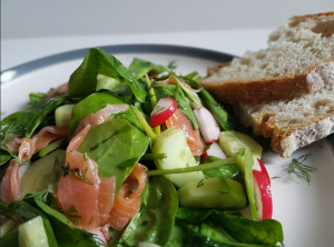 salmon salad seaweed dressing, seaweed recipe, Weed Wonderful Seaweed infused oils, healthy