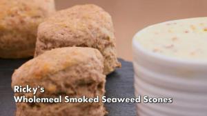 seaweed scones, ricky wilson, kaiser chiefs, celebrity seaweed recipe, great british bake off