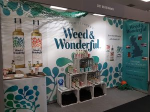 Weed and Wonderful seaweed show stand